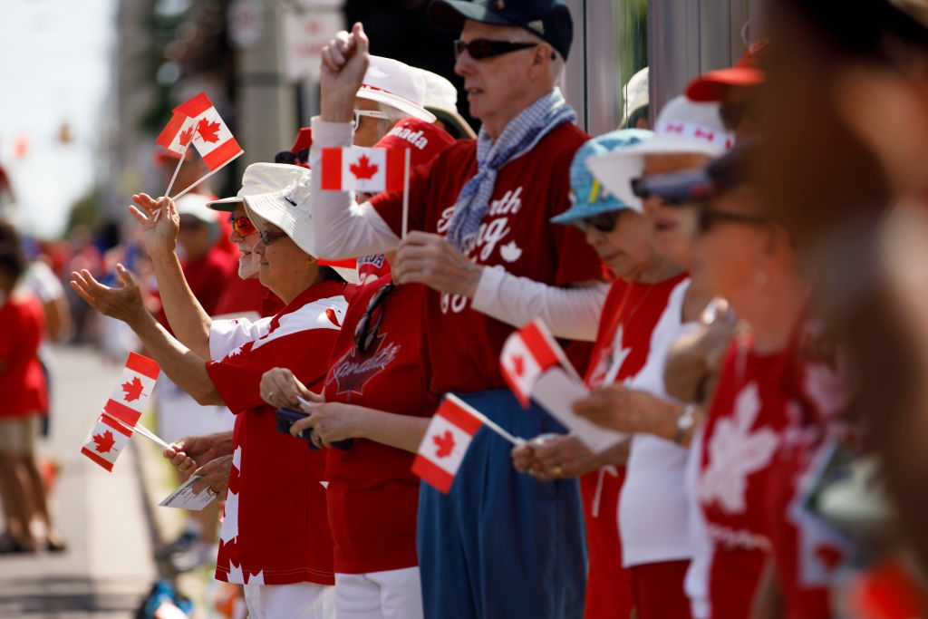 Toronto Celebrates Canada Day With Parade And Fireworks