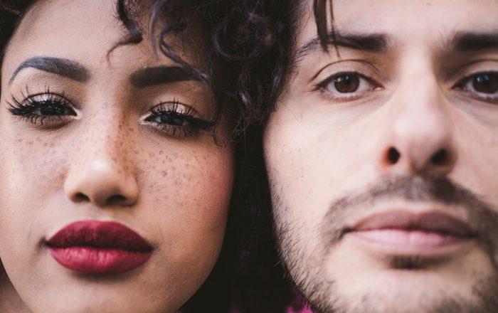 Close-Up Portrait Of Couple