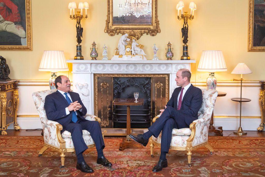 The Duke Of Cambridge Hosts Egyptian President Abdel Fattah el-Sisi