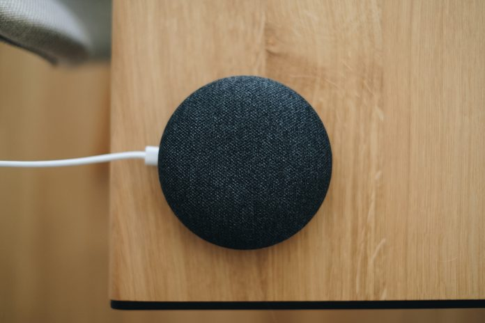 Close-Up Of Modern Speaker On Table