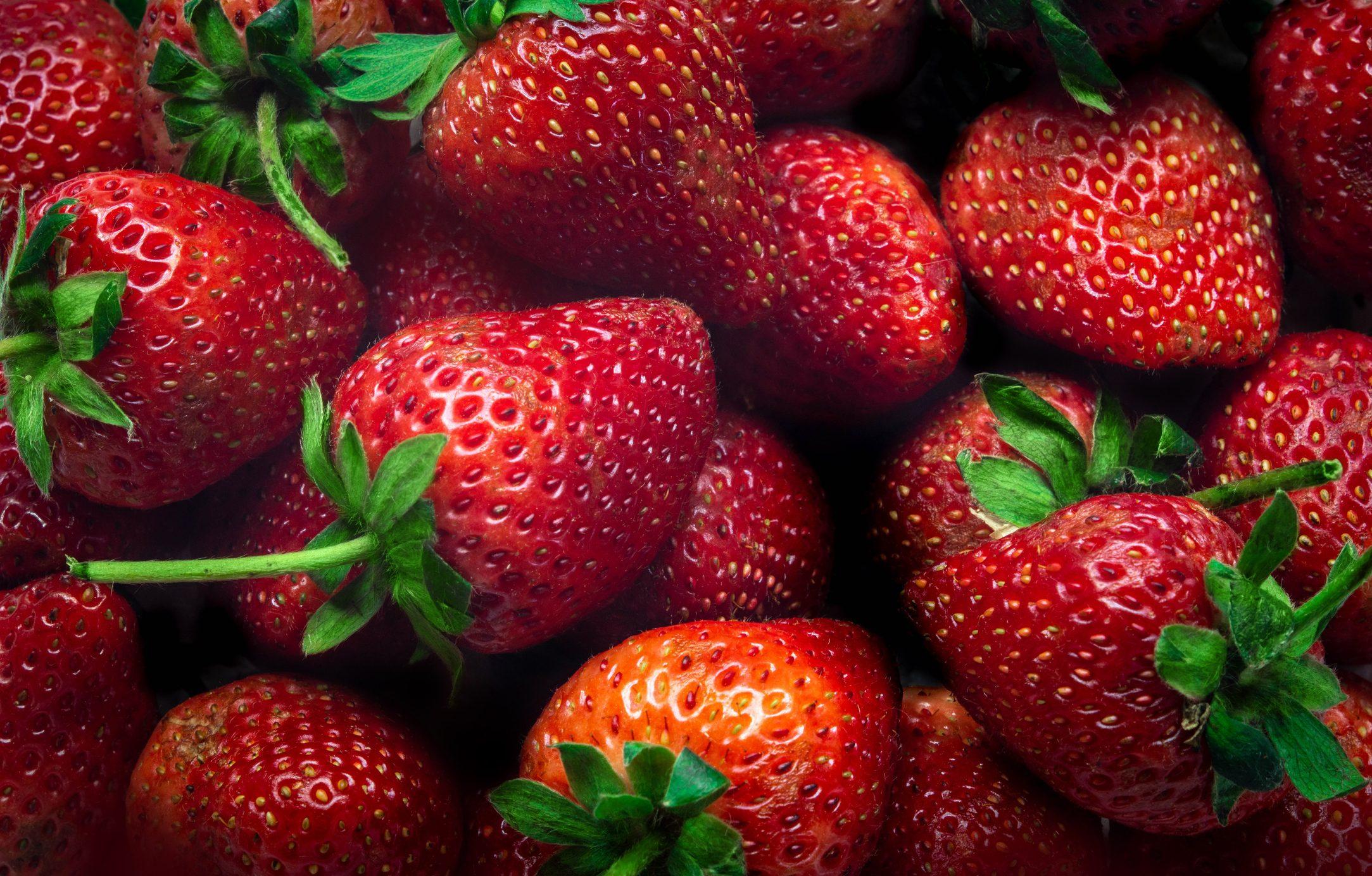 close up of strawberrys