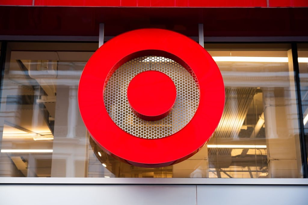 American retailer Target superstore logo seen at one of...