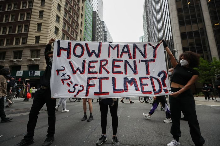 Protest over the death of George Floyd in New York