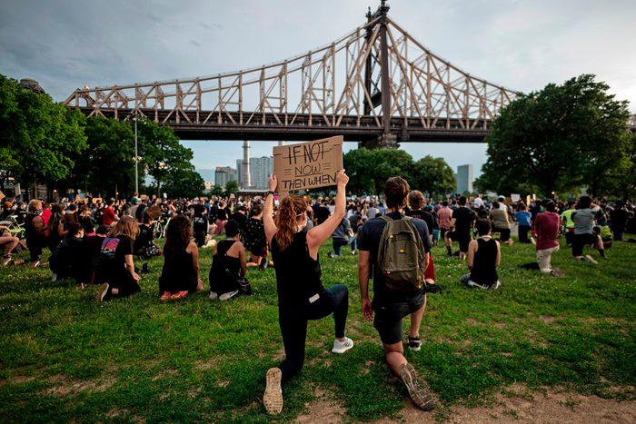 enough is enough black lives matter sign protests justice