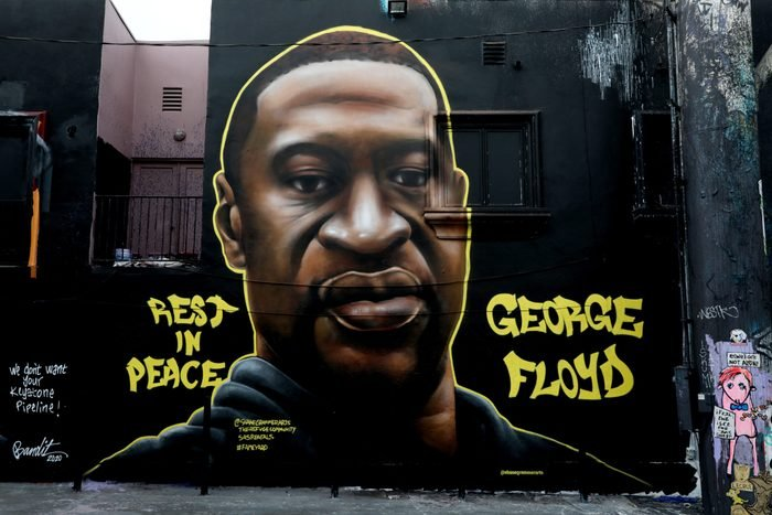 George Floyd, artists have memorialized him with murals and street art around the world, including in L.A.