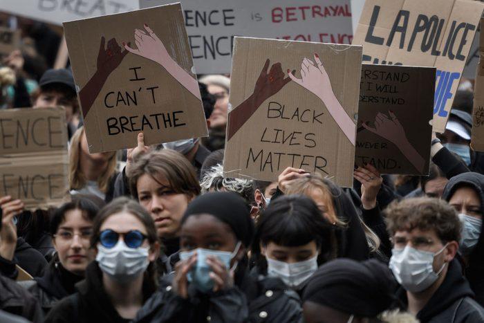 SWITZERLAND-US-FRANCE-RACISM-PROTEST