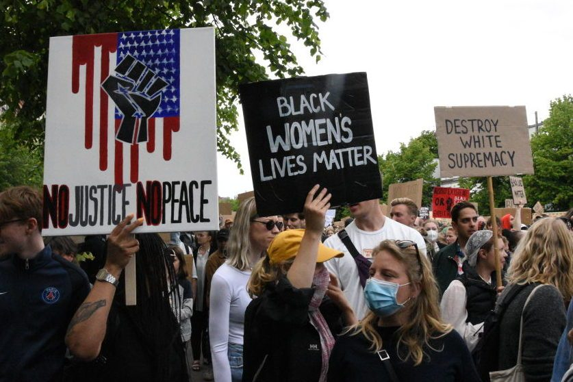 Protest in support of U.S. anti-racist demonstrations in Denmark