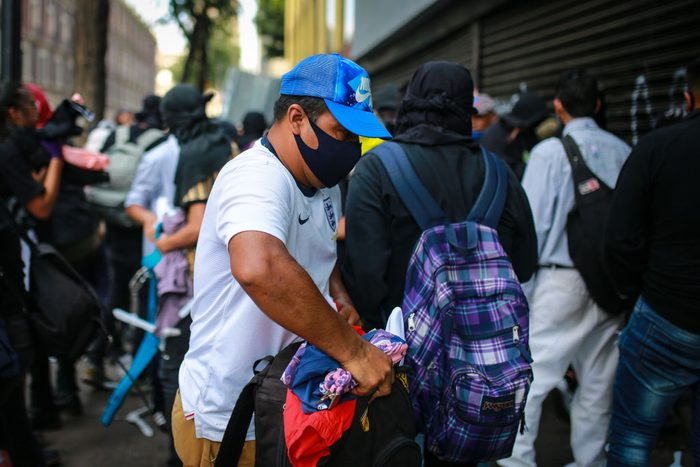 Protest against police brutality in Mexico City