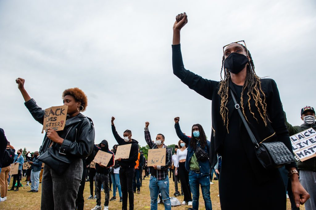 Second Massive Black Lives Matter Demonstration In Amsterdam