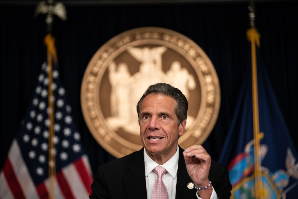 New York Governor Andrew Cuomo Holds Briefing In Manhattan