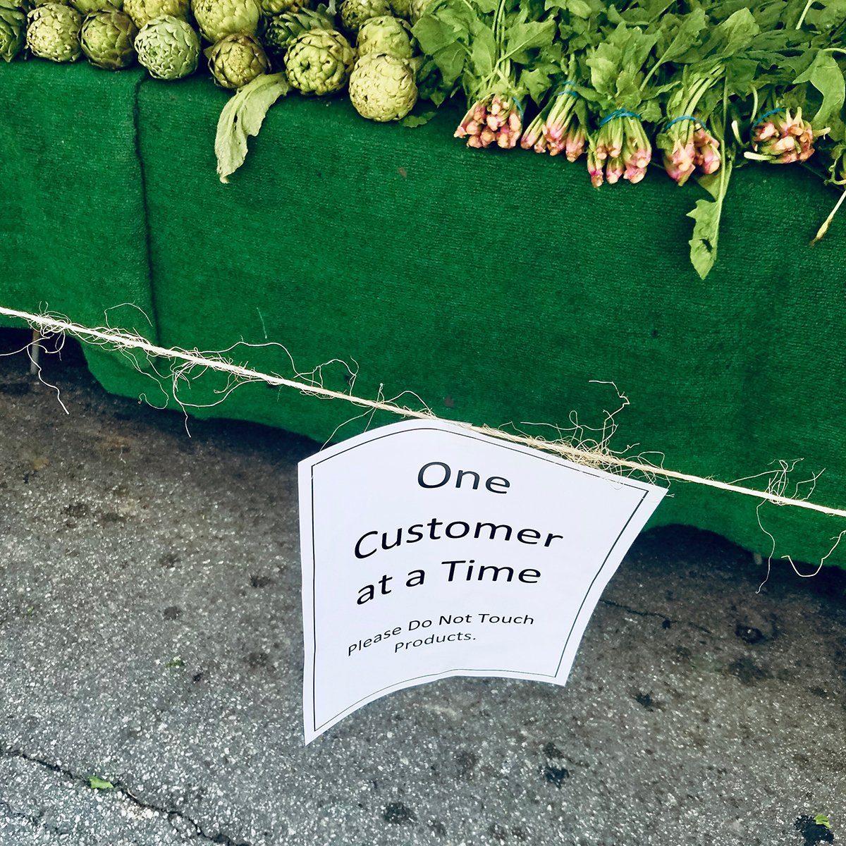 Farmers Market Social Distancing