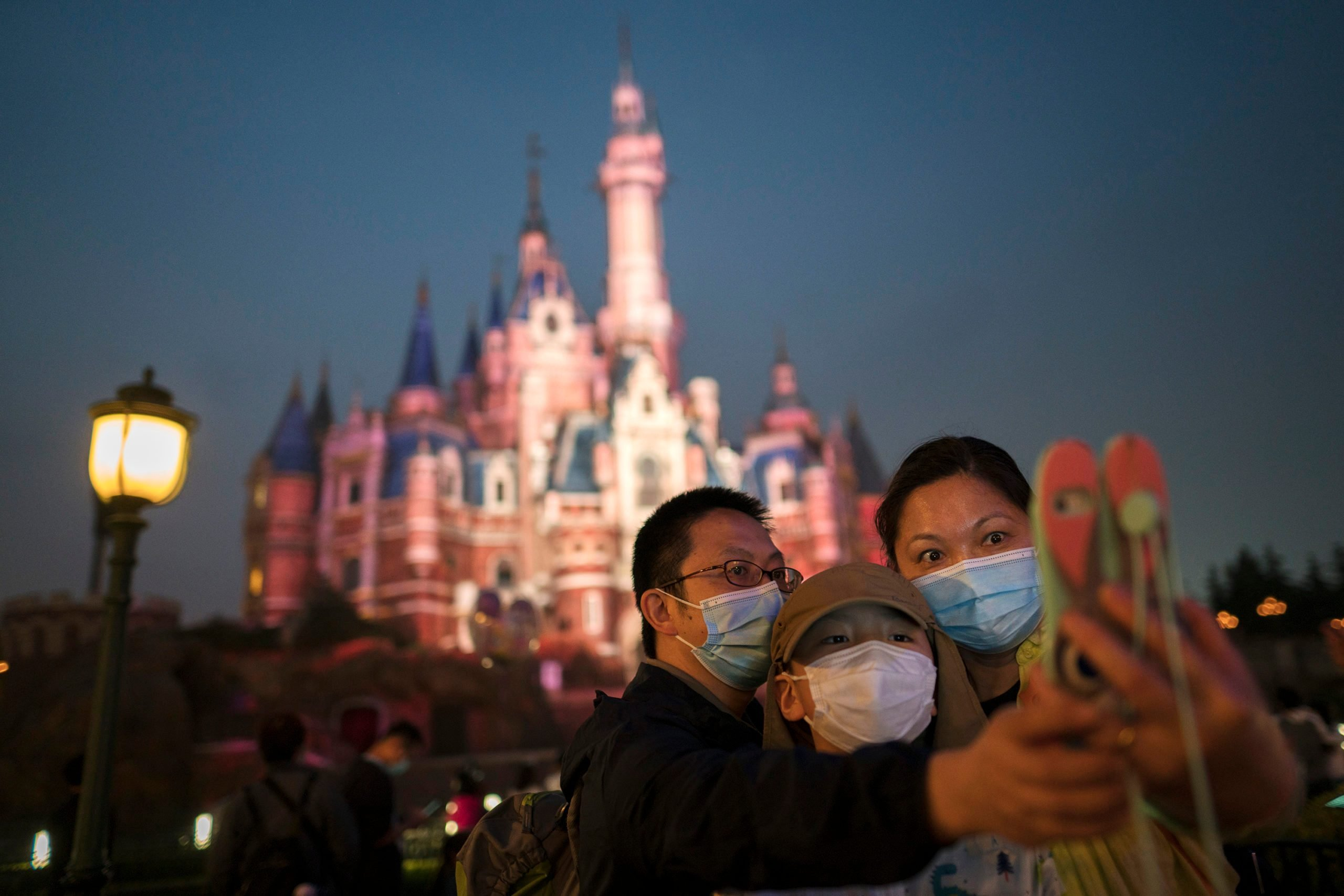 Disney Shanghai Reopens To Limited Visitors As China Recovers From Coronavirus Pandemic