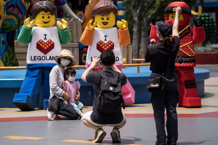 Legoland Reopens As Japan Slowly Recovers From Coronavirus Outbreak