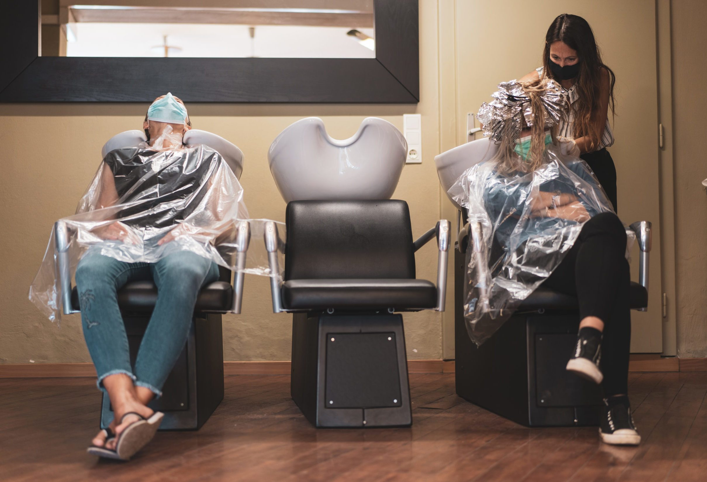 hair salon reopen with safety precautions after coronavirus lockdown
