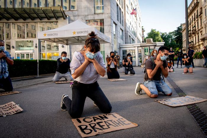 George Floyd Death Protest In Milan