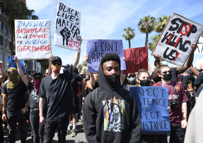 Protesters take to the streets of Long Beach for Black Lives Matter.
