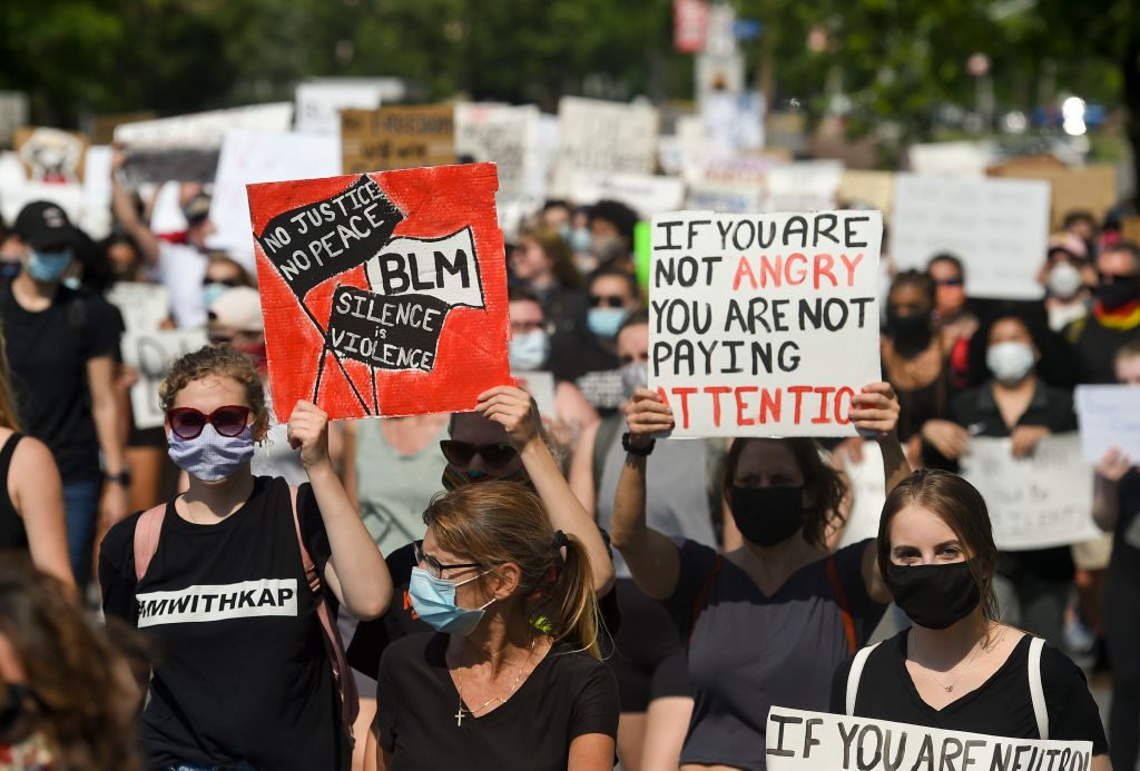 March To Support Black Lives Matter And In Response To Killing of George Floyd