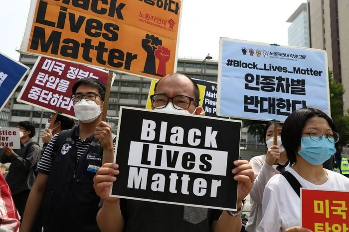 South Koreans Rally In Support Of Black Lives Matter