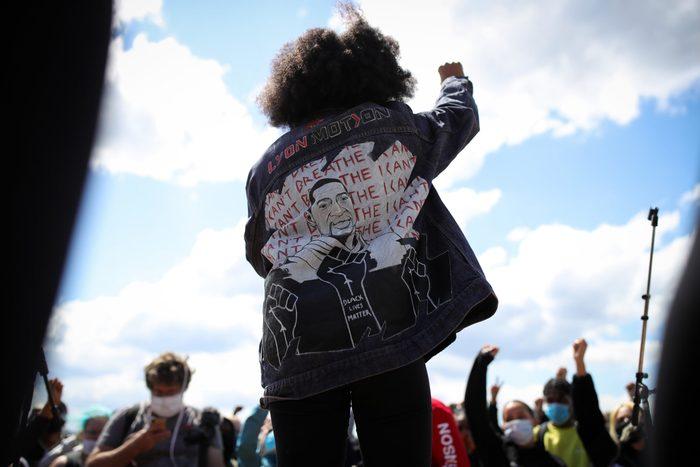 Demonstrators Across Germany Pay Tribute To George Floyd