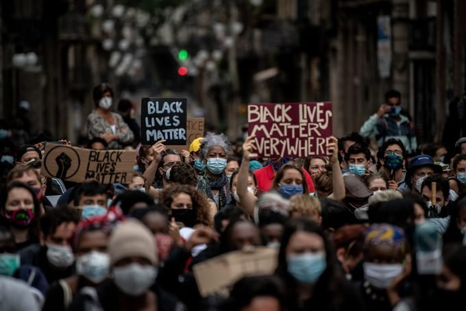 Black Lives Matter Movement Inspires Demonstrations In Spain