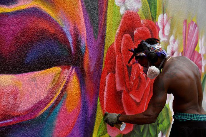 art, gerge floyd, mural,