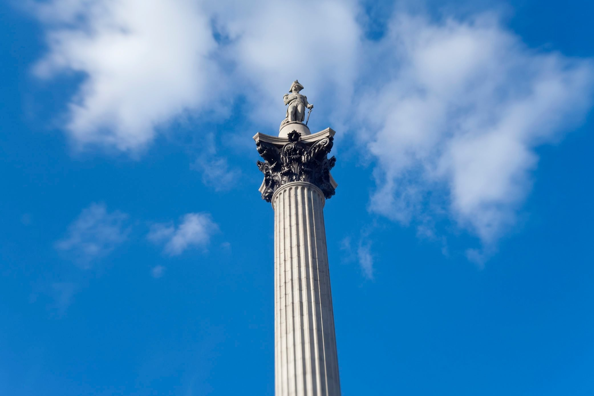 Nelsons Column, Trafalgar Square, London, England, U K