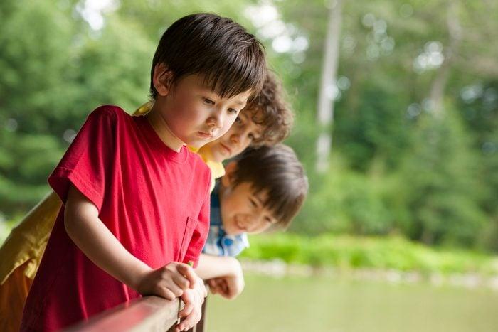 Three Boys and a Fish Pond