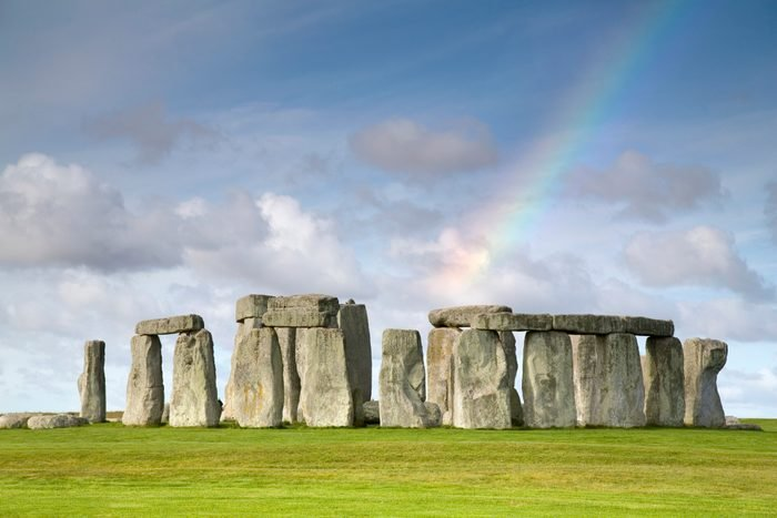 Rainbow over Stonehenge, Salisbury Plain