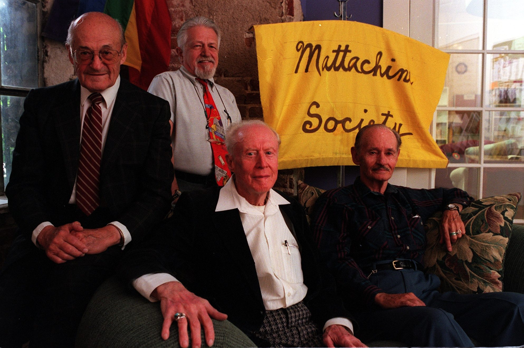Mattachine Society members clockwise from left, Bill Reynard , Earl Gebhardt, Rolland Karcher and Elver Barker will be grand marshals for this year's Gay Pride Parade on June 27.