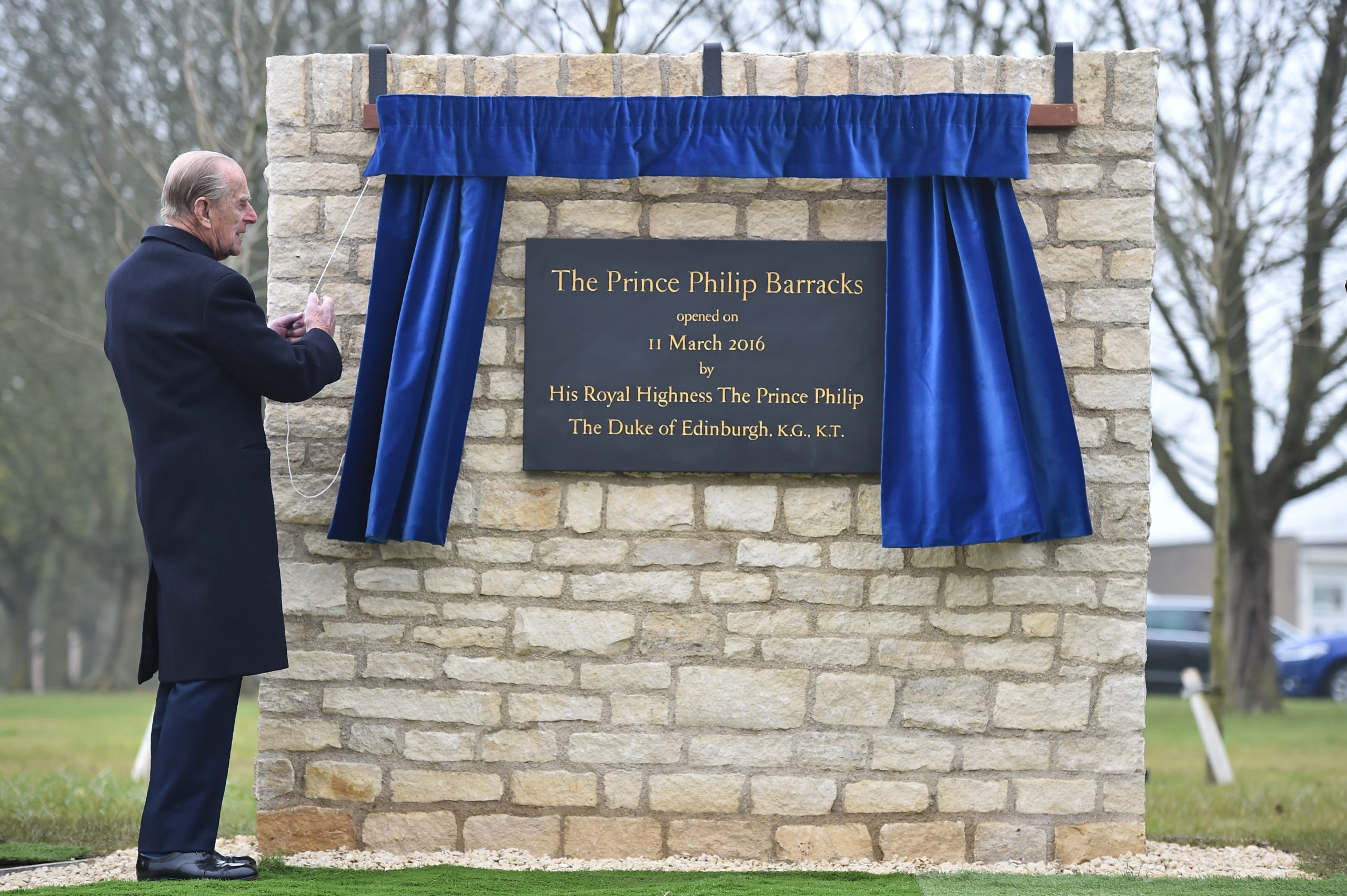 Prince Philip opens The Prince Philip Barracks at MOD Lyneham