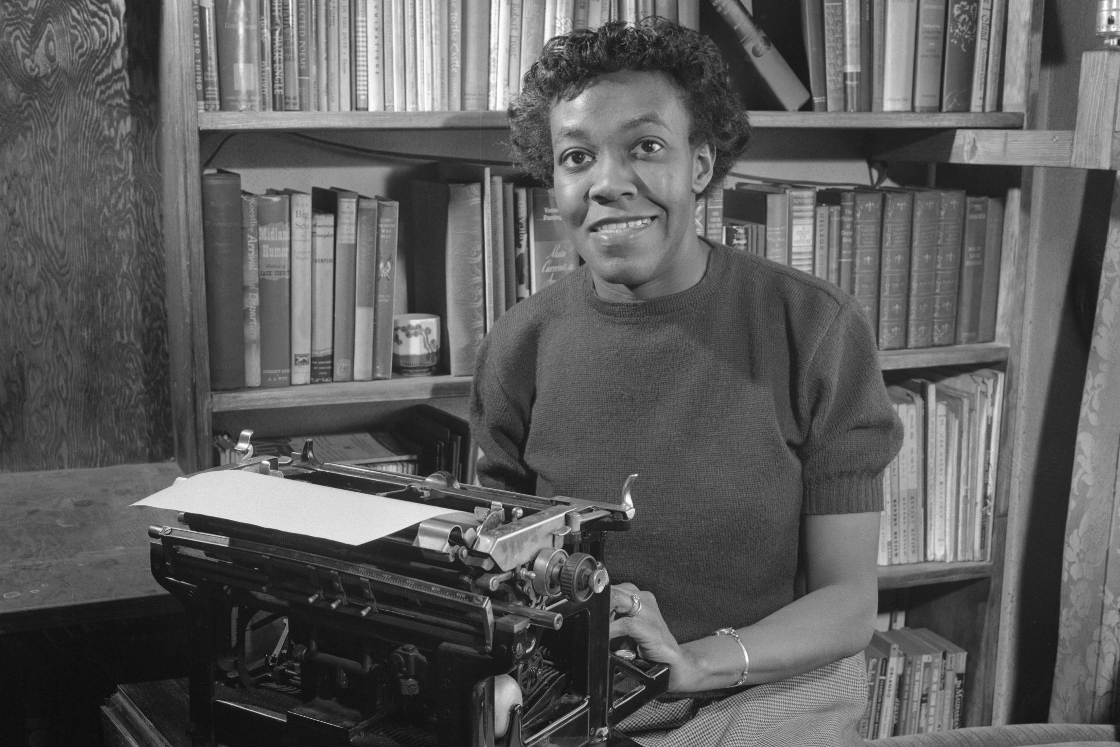 Gwendolyn Brooks with Typewriter