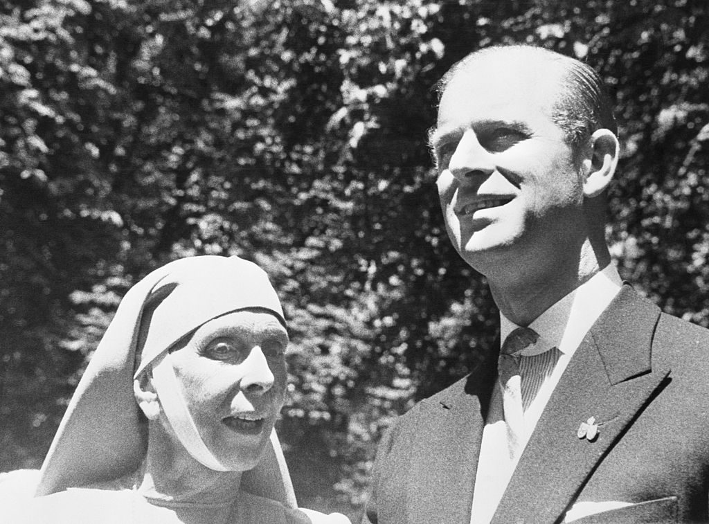 Prince Philip in Reunion with His Mother