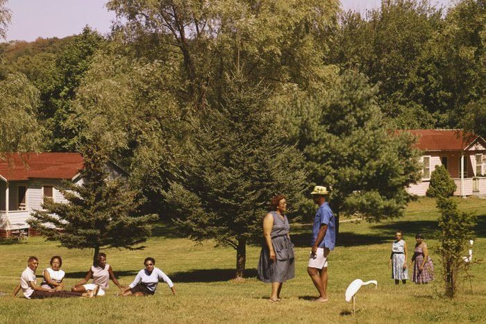 Guests Relaxing on the Grounds of Moodie's