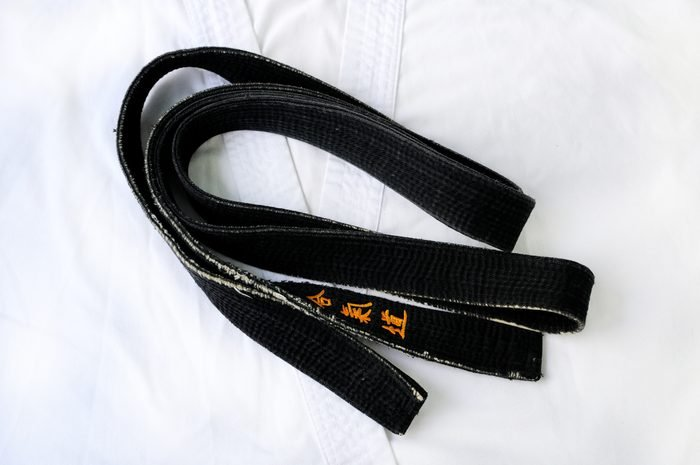 Black belt on a white background.