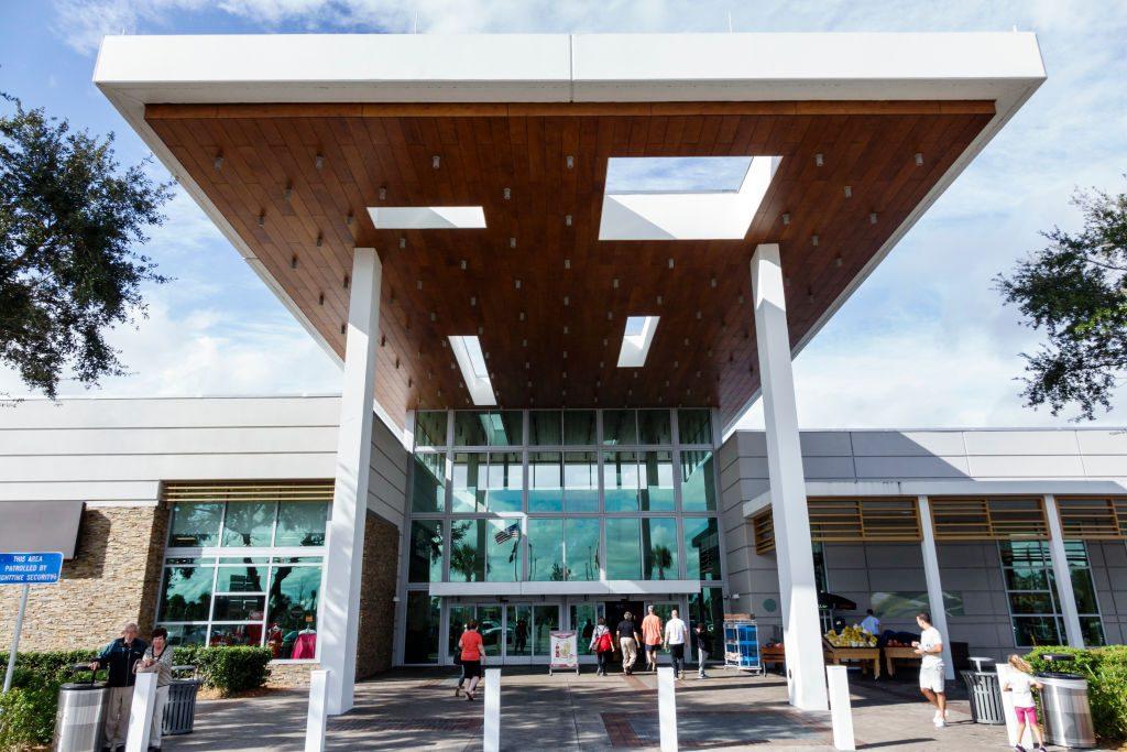 Fort Drum Service Plaza entrance.