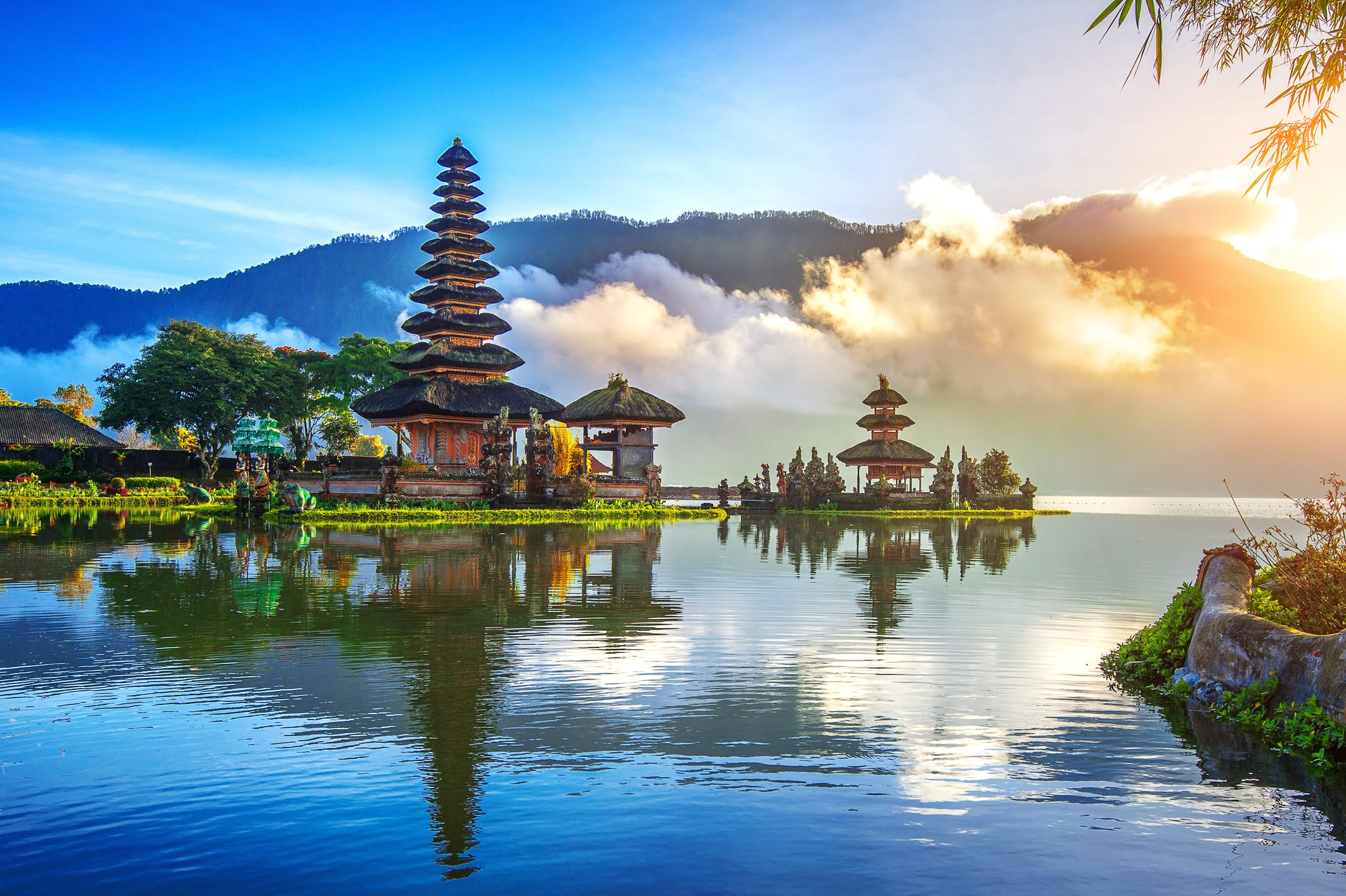 pura ulun danu bratan temple in Bali.