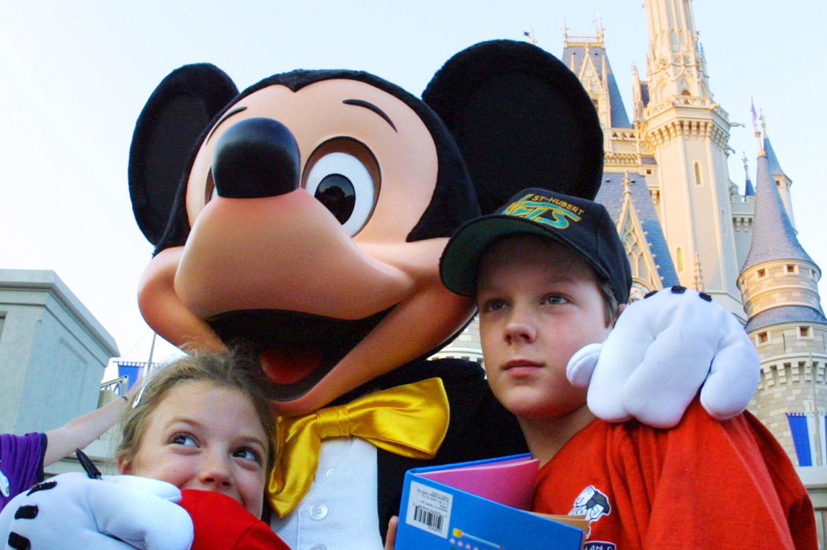 Close-up picture with Mickey Mouse