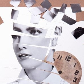 cut out collage of woman