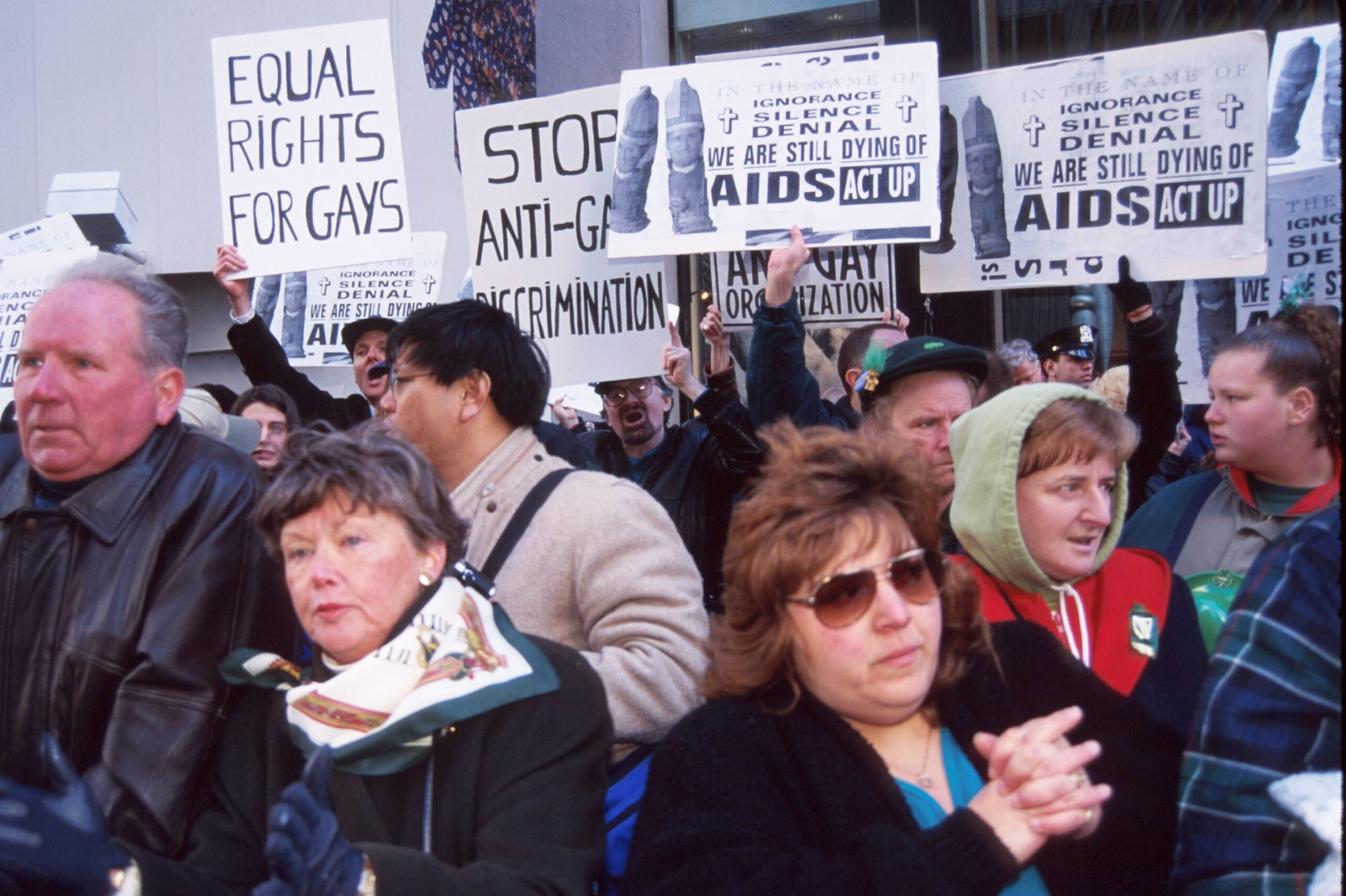 Protesters At St Patrick's Day Parade