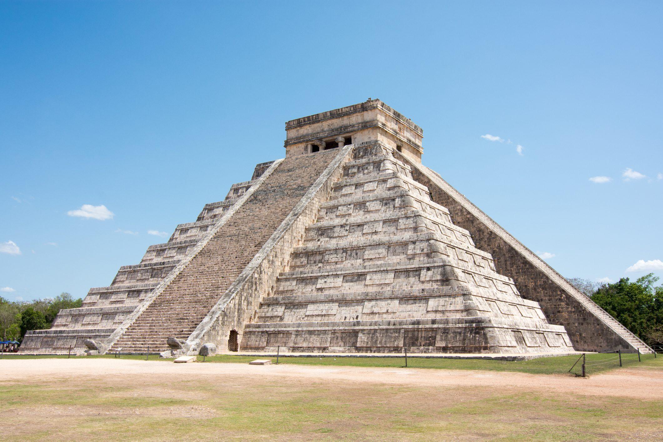 Mexico, Yucatan, Chichen Itza, Pyramid. Maya Culture