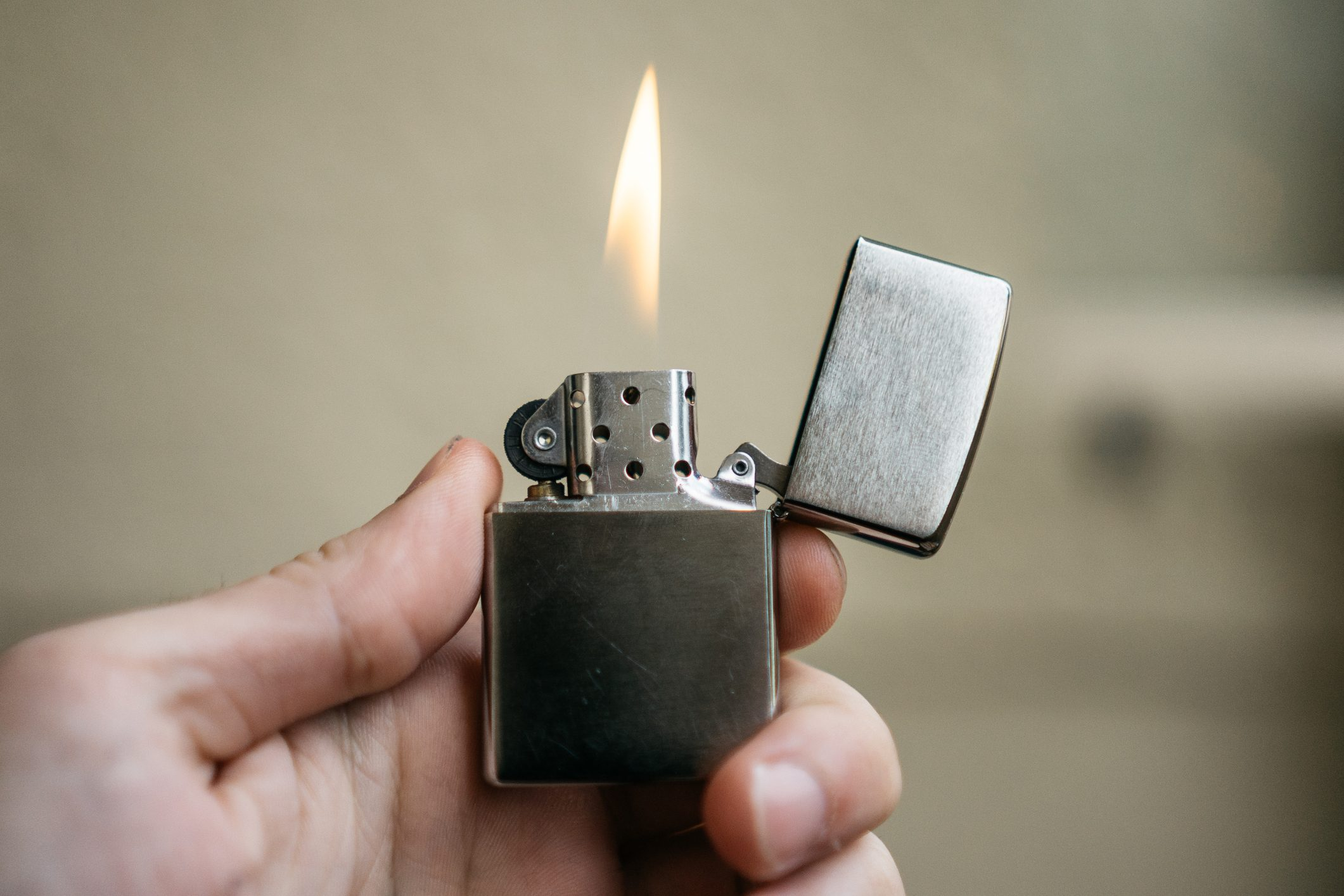 zippo lightner with small fire