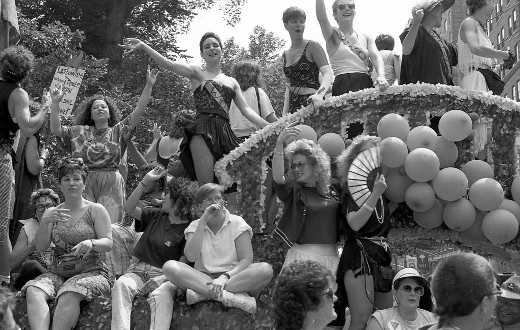 Crowded Parade Float, Gay Pride NYC 1989 (20th Anniversary Of Stonewall)