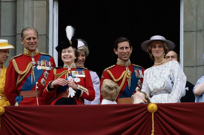 Royal Family Watching Trooping the Color