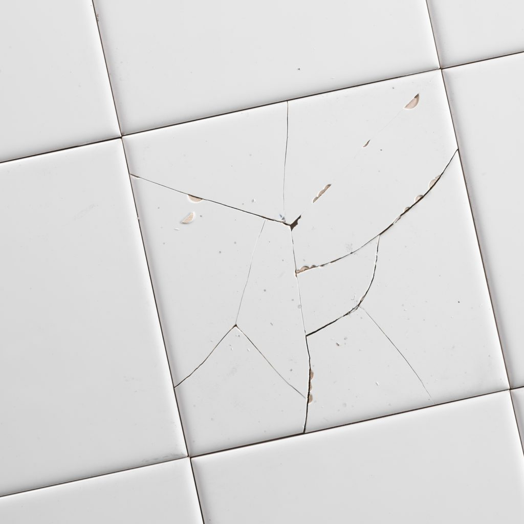 Cracked White Tiles