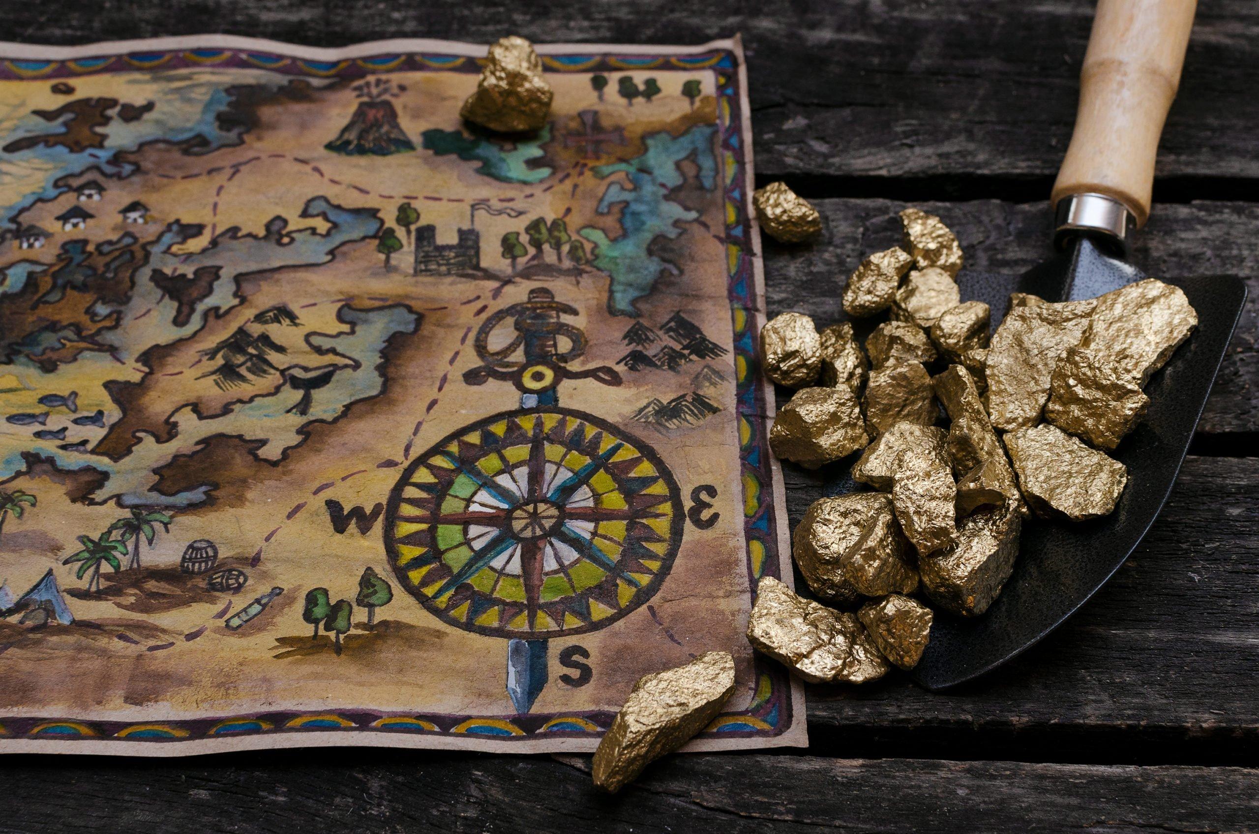 Treasure chest map.