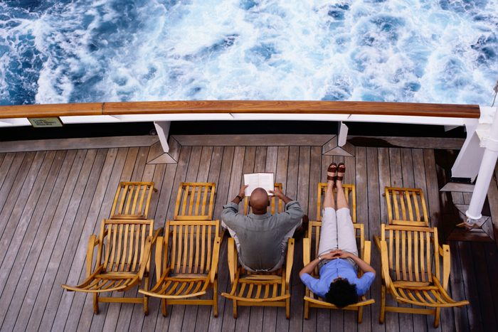 Couple Sitting on a Cruise Ship Deck
