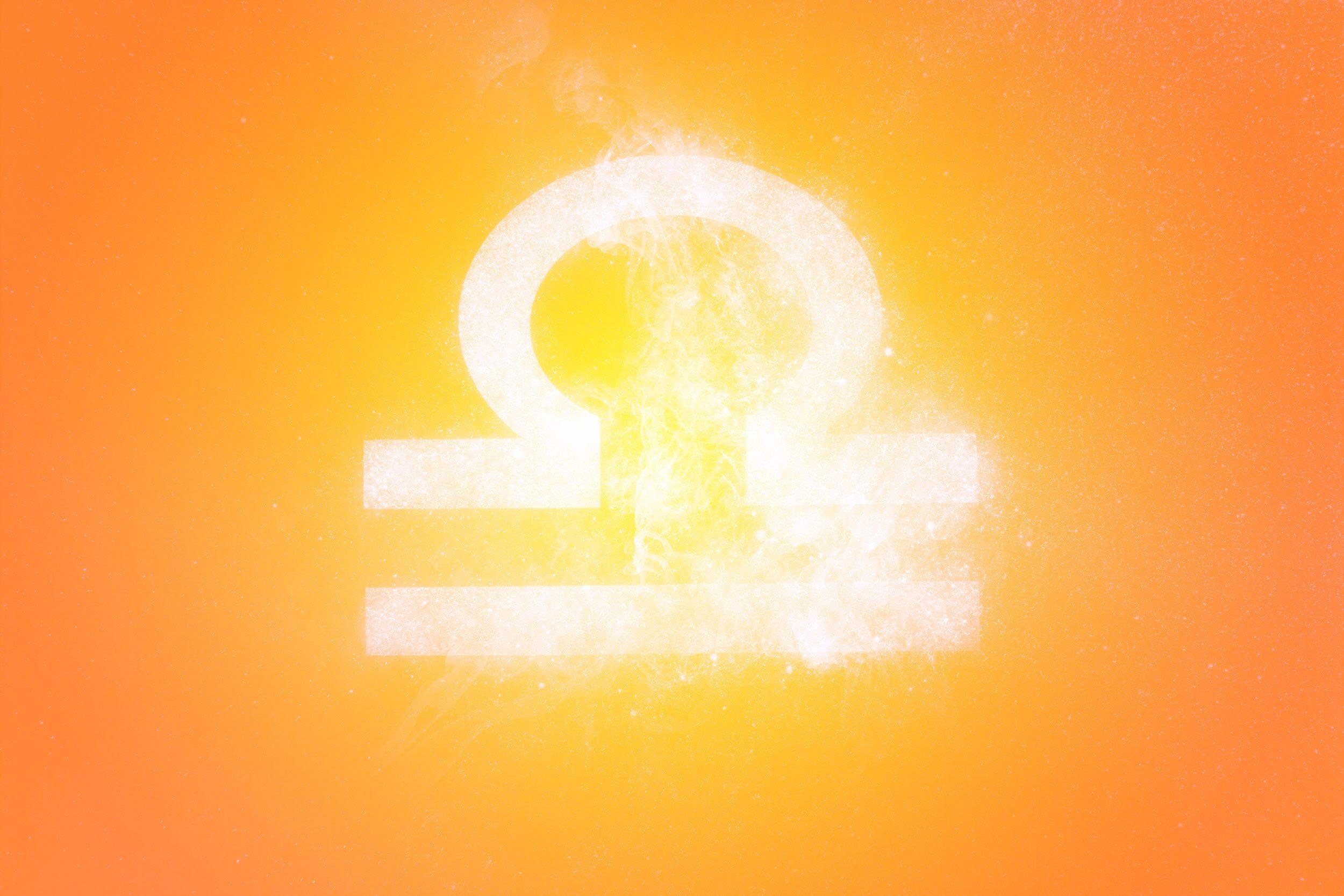 Libra Zodiac Sign. Abstract sky background