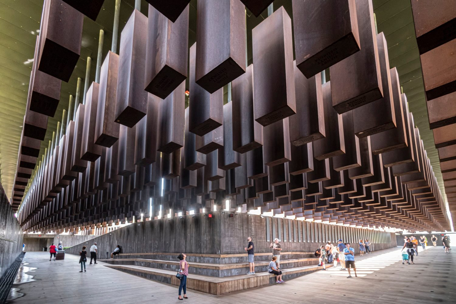 the national memorial for peace and justice in montgomery, alabama