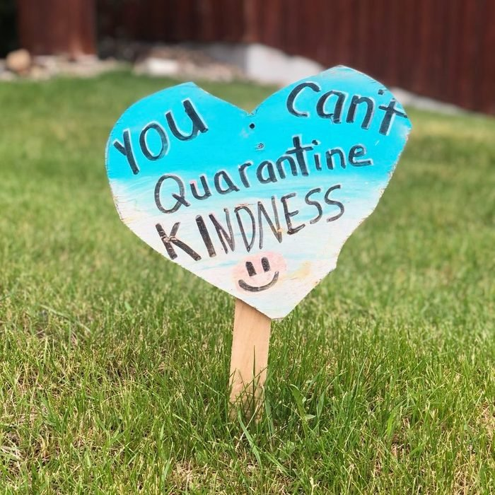 friendly message on a wooden heart