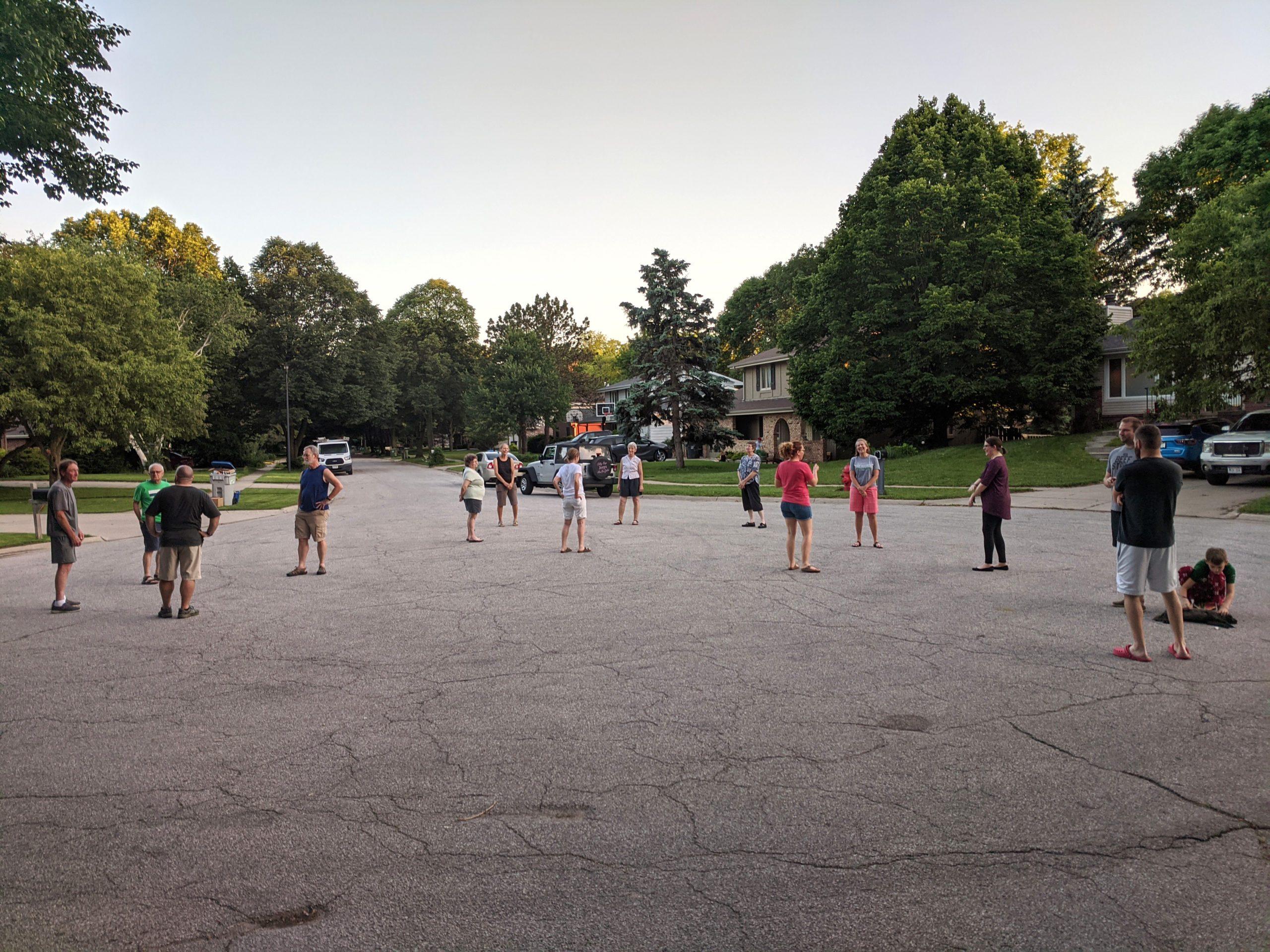 nightly neighborhood gathering
